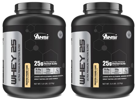 "ANSI Ultra Premium Whey Blend Frosted Pound Cake  Frosted Pound Cake 2 x 5 Lb  TWINPACK ""Limited Edition"" ($49.98 w/DPS10 coupon code)"