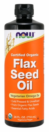 Now Foods Flax Seed Oil - 24 Oz