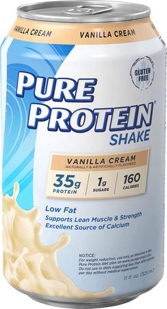 Pure Protein RTD Shake Vanilla Cream - 12 Cans
