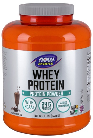 Now Foods Whey Protein  Chocolate - 6 Lb