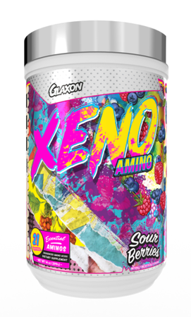 Glaxon Xeno V3 - Muscle Recovery & Hydration Amino Acids   Sour Berries - 21 Servings