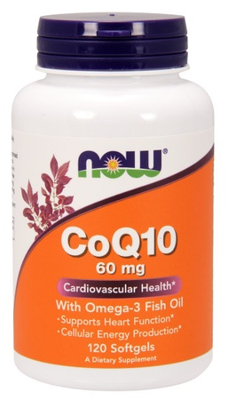 Now Foods CoQ10 60 Mg with Omega 3 Fish Oil - 120 Softgels