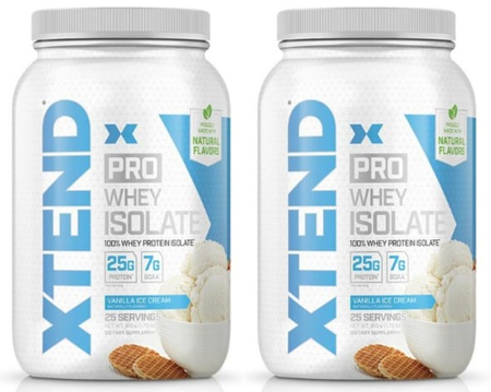 Scivation Xtend PRO Whey Isolate Vanilla Ice Cream - 50 Servings (2 x 25 Servings) TWINPACK