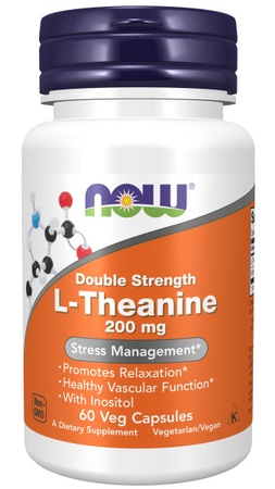 Now Foods L-Theanine 200 Mg - 60 VCap