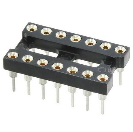 14 Pin Gold Machine DIP Socket