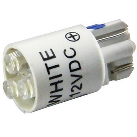#161 White LED Bulb, 12 volt, T3-1/4 wedge base