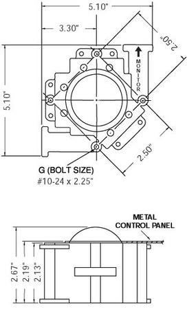 "2¼"" Trackball Unit Black Ball Atari/Happ"