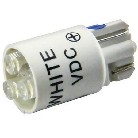 #555 White LED Bulb, 5 volt, T3-1/4 wedge base