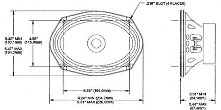 """6""""x9"""" 8 Ohm Shielded Speaker"""