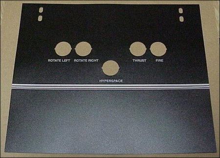 Asteroids Cocktail Control Panel Overlay Set