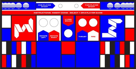 Asteroids Upright Control Panel Overlay