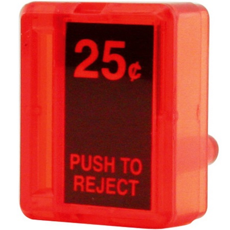 Coin Door Red Reject Button