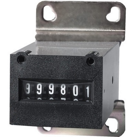 Coin Meter 6-Digit, 4.5-6v DC with Mounting Bracket