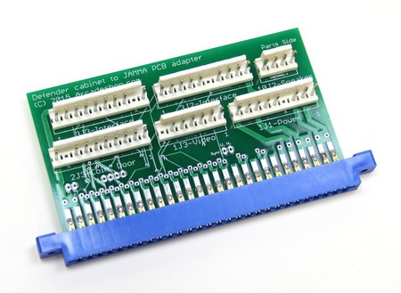Defender Cabinet to JAMMA PCB Adapter