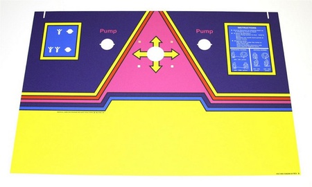 Dig Dug Upright Control Panel Overlay