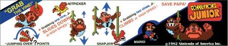 Donkey Kong Jr. Bezel Instruction Card