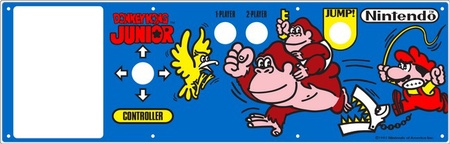 Donkey Kong Jr. Control Panel Overlay