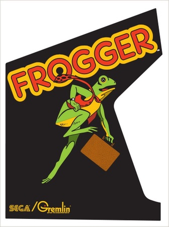 Frogger Upright Side Art Set