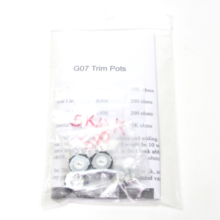 Electrohome G07 Chassis Potentiometer Kit