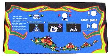 Galaga Upright Control Panel Overlay