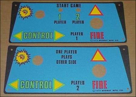 Galaxian Cocktail Control Panel Overlay Set