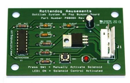 Gottlieb System 80 Pop Bumper PCB