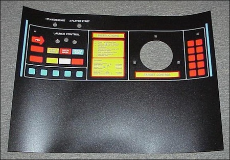 Missile Command Upright Control Panel Overlay