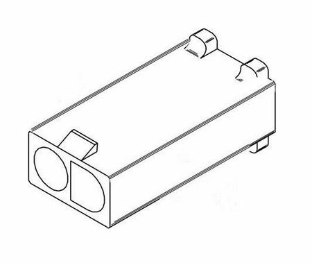 "Molex 2 Pin, .093"" Female Plug Housing"