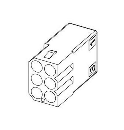 "Molex 6 Pin, .093"" Male Receptacle Housing"