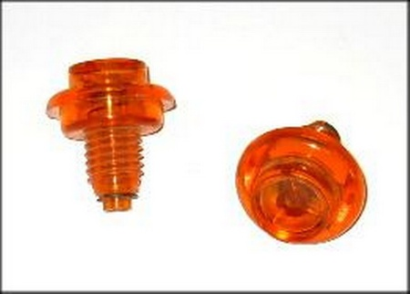 Push Button Leaf Switch Translucent Orange