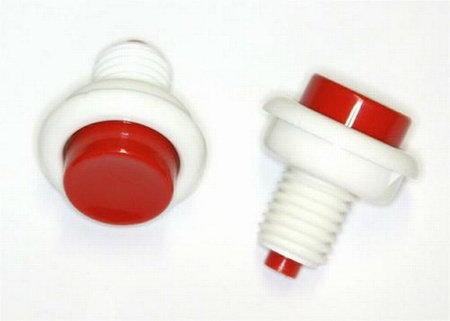 Push Button Leaf Switch White/Red
