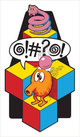 Q*bert Side Art Set