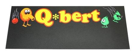 Q*bert Upright Front Overlay