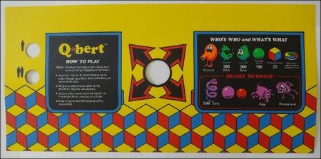 Q*bert Upright Control Panel Overlay