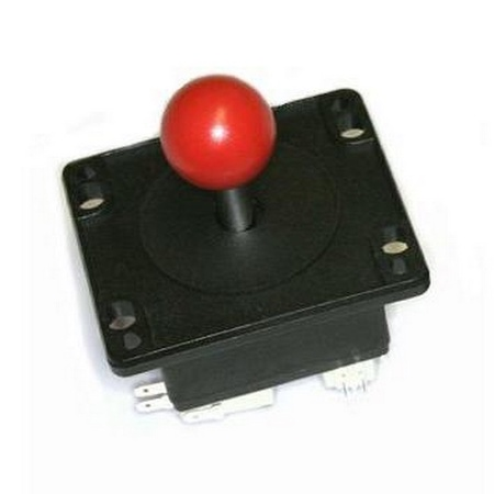 Red 4-Way Ball Handle Joystick
