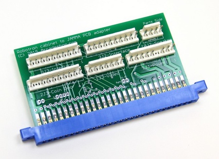 Robotron Cabinet to JAMMA PCB Adapter