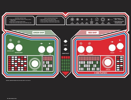 Space Duel Upright Control Panel Overlay
