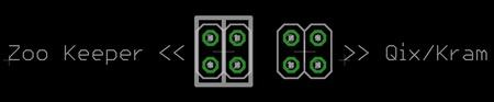 Zoo Keeper/Qix/Kram Cabinet to JAMMA PCB Adapter