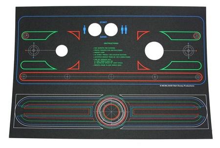 Tron Mini/Cabaret Control Panel Overlay