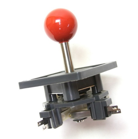 "Wico Red 8-Way Ball 3.5"" Handle Leaf Joystick"