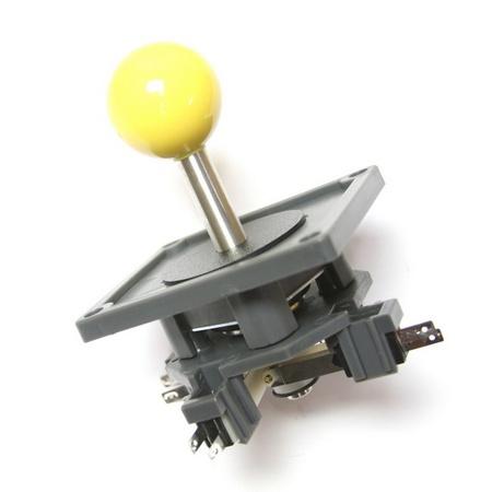 """Wico Yellow 8-Way Ball 3.5"""" Handle Leaf Joystick"""
