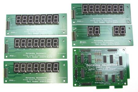 Williams 7 Digit LED Display Set (System 6A, 7 & 9)