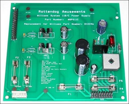 Williams System 11B/C Alphanumeric Power Supply