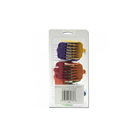 Wahl 10 Piece Color Coded Guide Comb Set